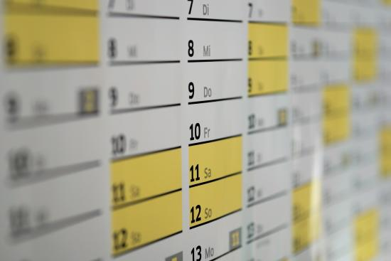 Public domain image of a calendar